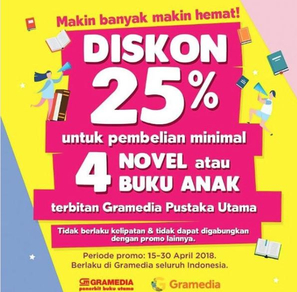 Discount 25% from Gramedia
