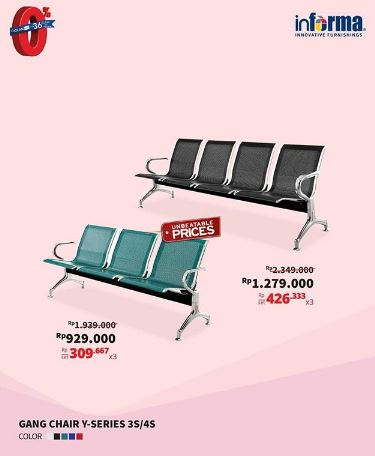 Special Price Gang Chair Y-Series from Informa
