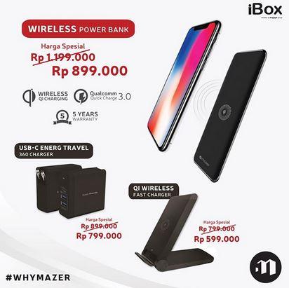 Mazer Wireless Powerbank Promotion at iBox