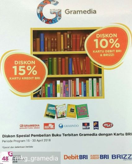 Discounts up to 15% from Gramedia</h3>