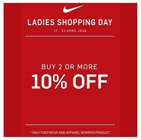 Discount 10% from Nike