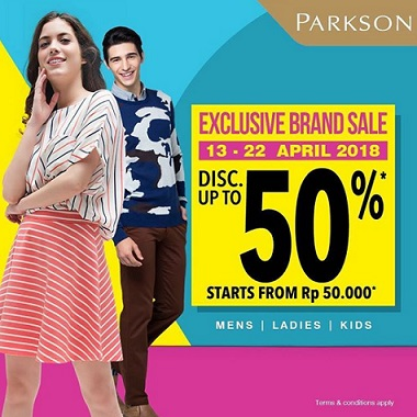 Discount Up to 50% from PARKSON</h3>