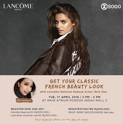 Get Your Classic French Beauty Look at SOGO Pondok Indah Mall