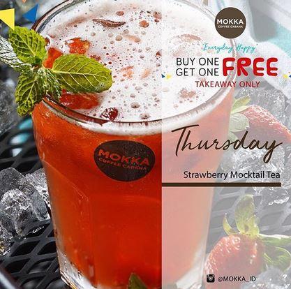 Promo Strawberry Mocktail di Mokka Coffee Cabana