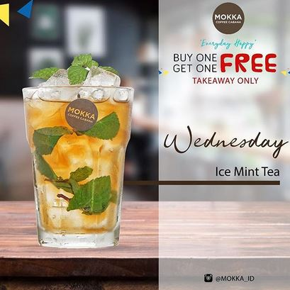 Ice Mint Tea Promotion at Mokka Coffee Cabana