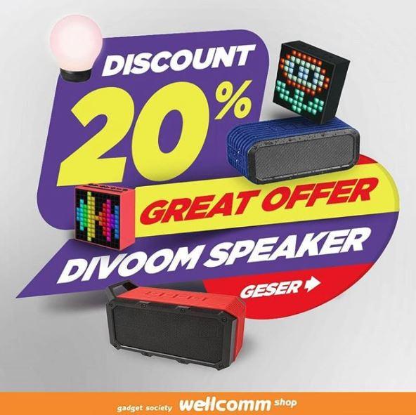 Divoom Speaker Discount 20% in Wellcomm Shop