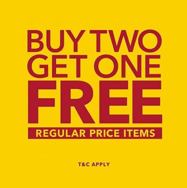 Buy 2 Get 1 Free from Payless