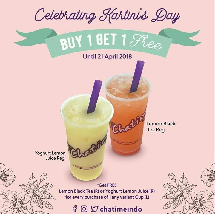 Buy 1 Get 1 Free from Chatime