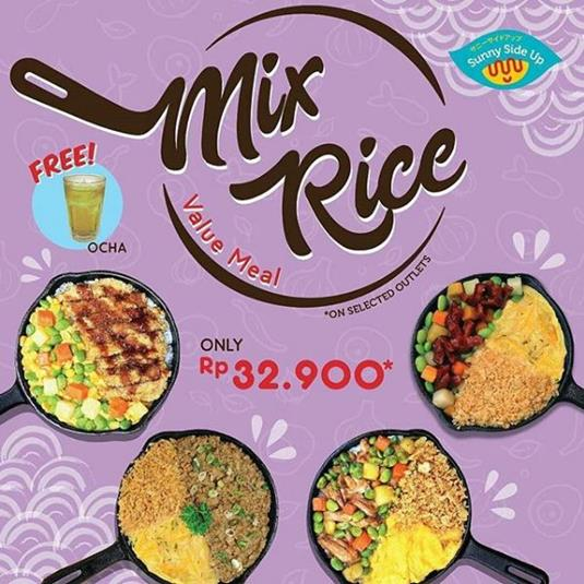 Promo Only Rp 32.900 on Sunny Side Up