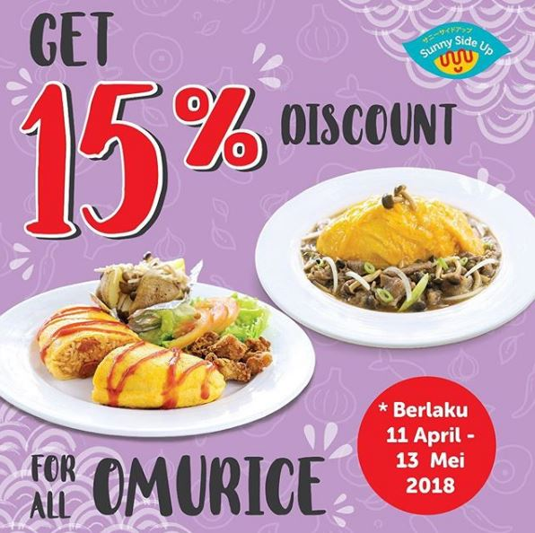 Discount 15% at Sunny Side Up