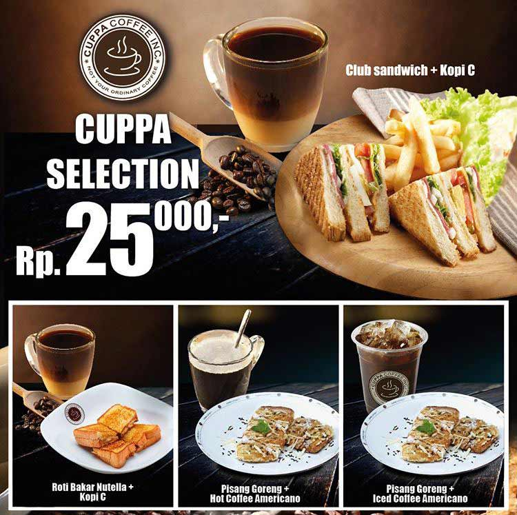 Cuppa Selection Promotions from Cuppa Coffee