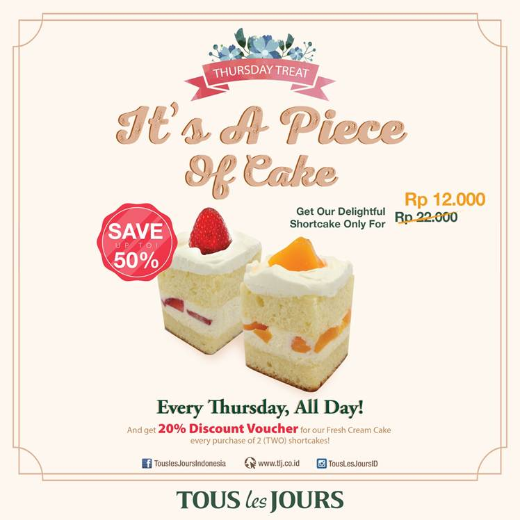 Discount 50% from Tous les Jours