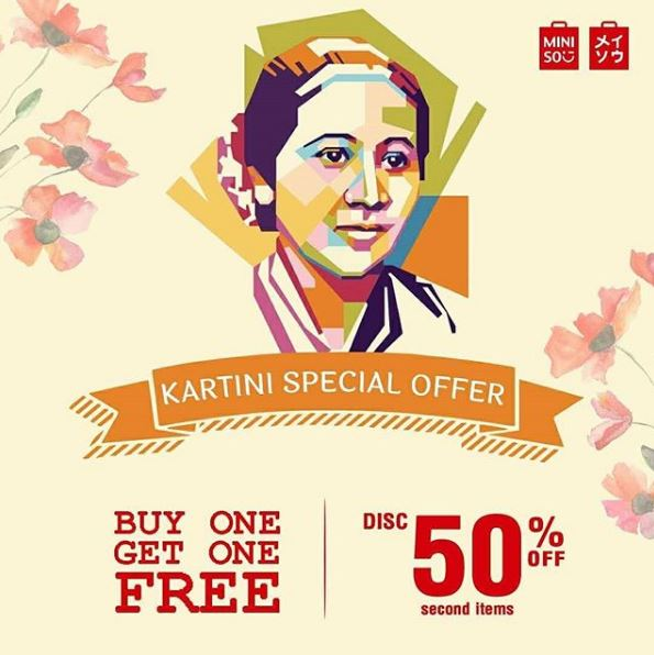 Special Promo Kartini Day at Miniso