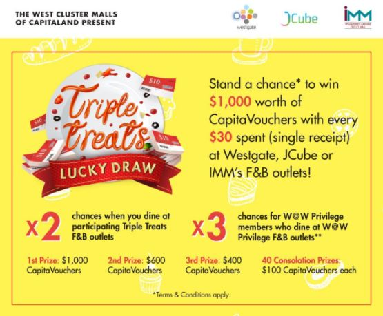 Lucky Draw at JCube Mall
