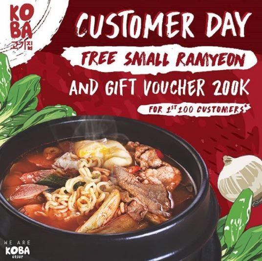 Free Menu & Gift Voucher Rp 200.000 from Koba