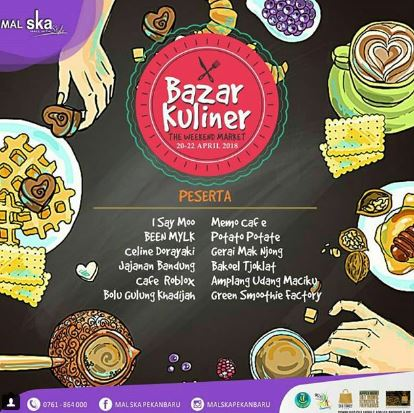 Culinary Bazaar at Ska Mall Pekanbaru