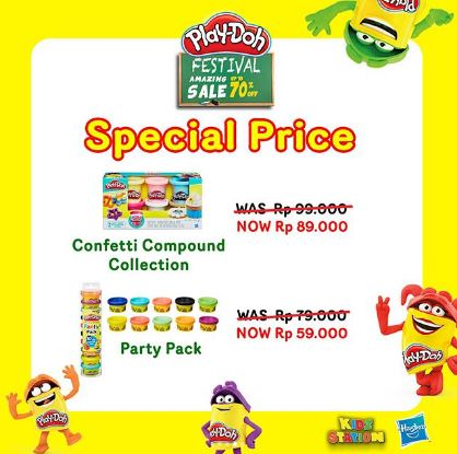 Harga Spesial Confetti Compound Colletion & Party Pack PlayDoh dari Kidz Station