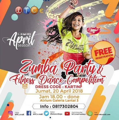 Zumba Party & Fitness Dance Competition di WTC Emall Surabaya