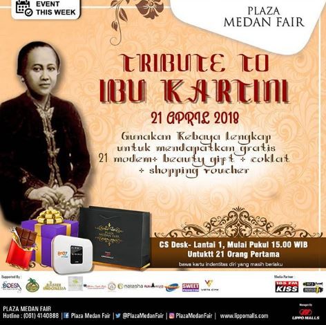 Tribute to Ibu Kartini at Plaza Medan Fair