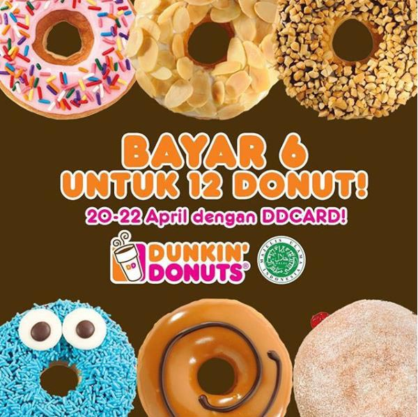 Buy 6 Get 6 Free from Dunkin Donuts