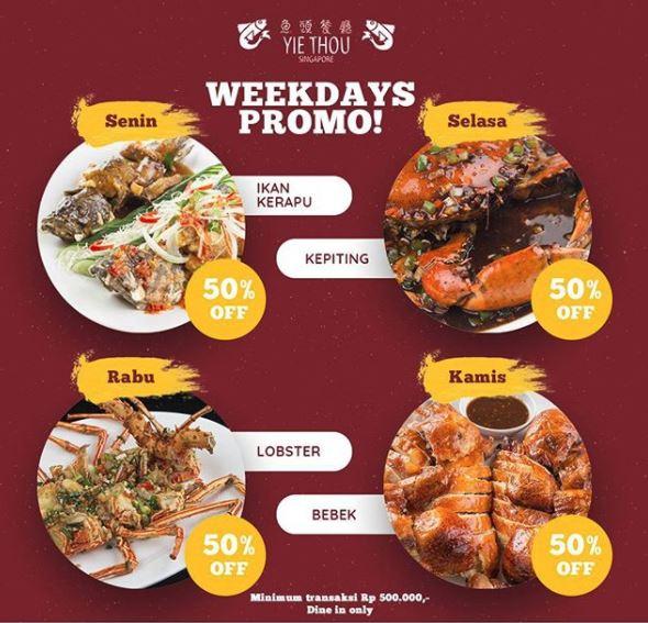 Weekdays Promo from Yie Thou Restaurant