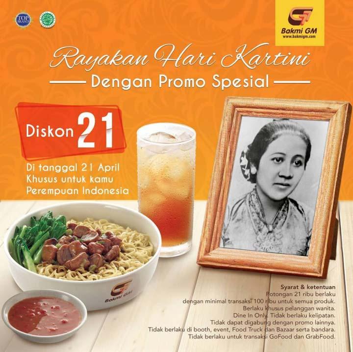 Discount Rp 21.000 from Bakmi GM
