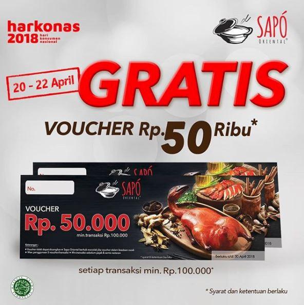 Free Voucher Rp 50.000 at Sapo Oriental