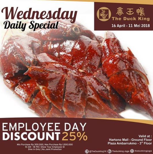 Wednesday Daily Special Promo at The Duck King