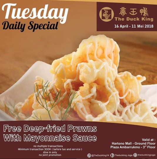 Promo Tuesday Daily Special at The Duck King