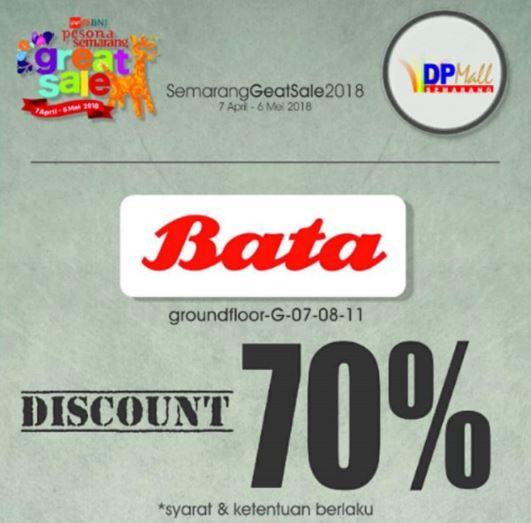 70% discount from Bata DP Mall Semarang