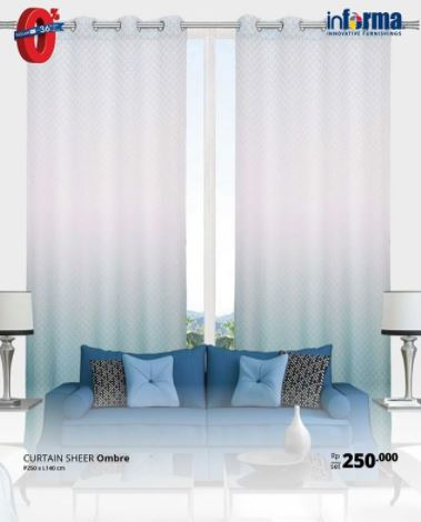 Special Price Curtain Sheer ombre from informa