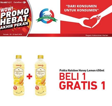 Buy 1 Get 1 Free Pokka Natsbee Honey Lemon at Transmart Carrefour