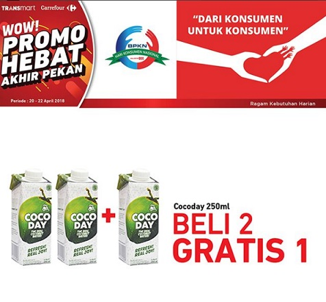 Buy 2 Get 1 Free Cocoday at Transmart Carrefour