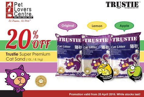 Trustie Super Premium Cat Sand Promotion at Pet Lovers Centre