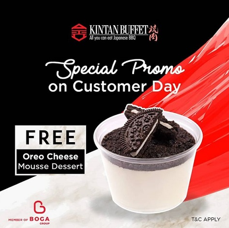 Free Oreo Cheese Mousse Dessert from Kintan Buffet