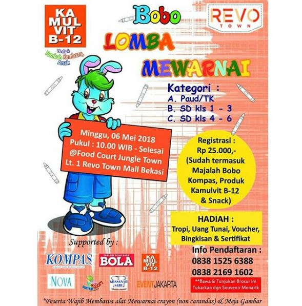 Lomba Mewarnai Di Revo Town Gotomalls