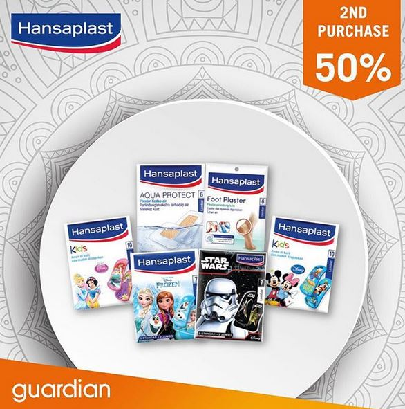 Discount 50% Hansaplast at Guardian