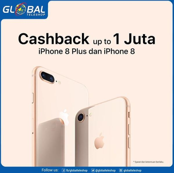 Cashback Up to Rp 1.000.000 at Global Teleshop