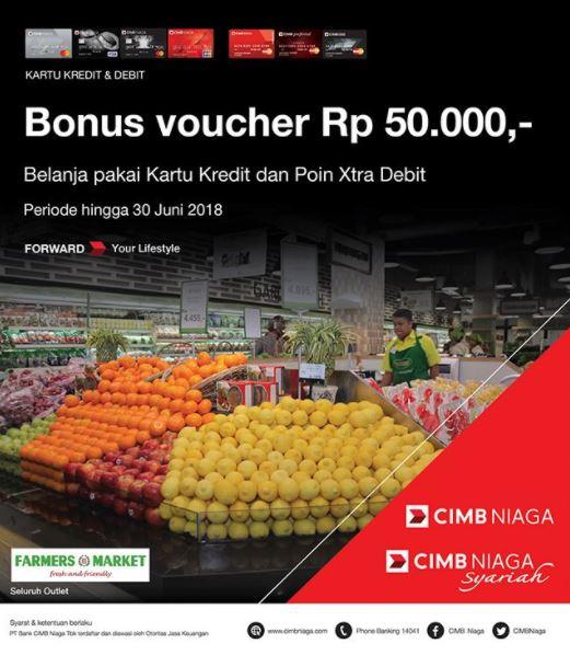 Bonus Voucher Rp 50.000 at Farmers Market