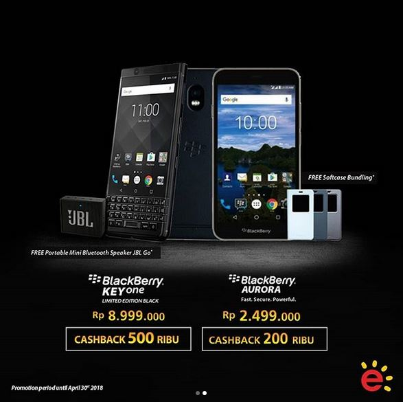 Cashback Rp 500.000 BlackBerry KeyOne at Erafone