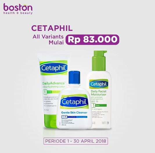 Promo Discounts Up To 20 Cetaphil Products From Boston Gotomalls