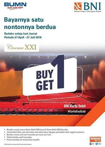 Buy 1 Get 1 Free Ticket At Cinema Xxi Paragon Mall Semarang
