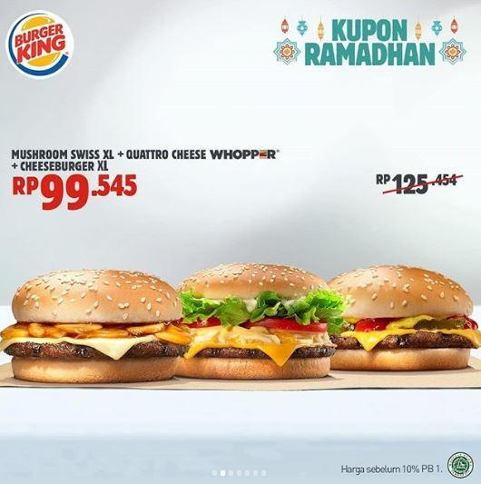 Special Price Rp 99545 At Burger King H3