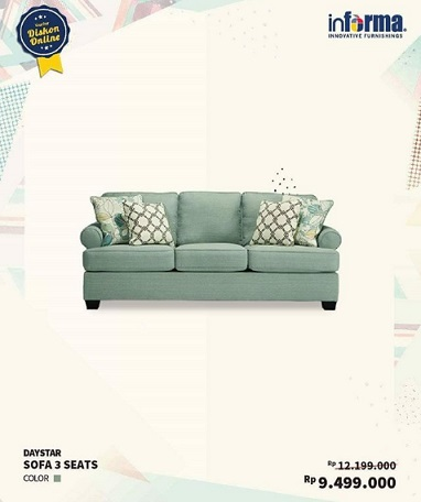 Daystar Sofa 3 Seats Promo At Informa Qbig Bsd City