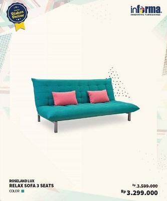 Promo Roseland Relax Sofa 3 Seats At Informa Bale Kota Mall