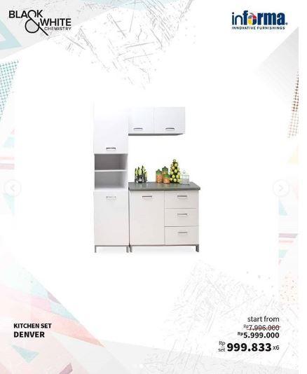 Price Specification Kitchen Set Denver From Informa Gotomalls