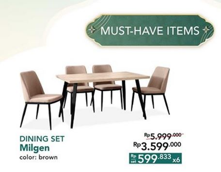 Special Price Dining Set Milget From Informa Gotomalls