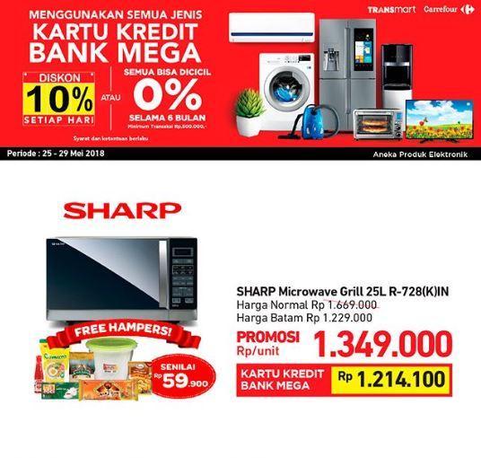 Promo Sharp Microwave Di Transmart Carrefour Mei 2018 Dp Mall Semarang