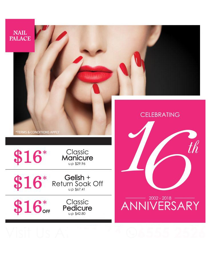 Anniversary Promotions from Nail Palace - AMK Hub