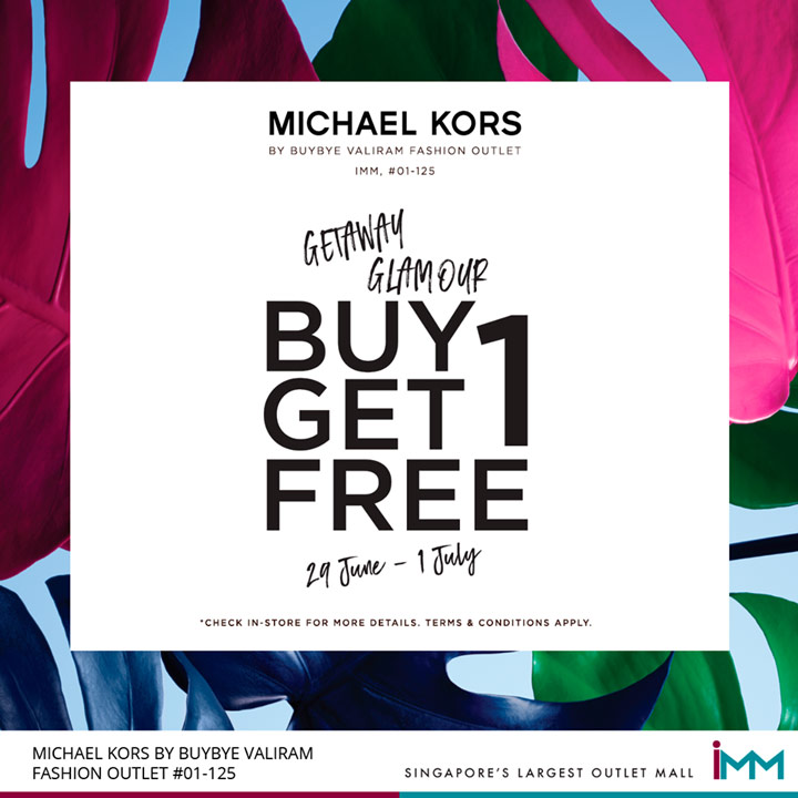 34b4bed4d00b Buy 1 Get 1 Free from Michael Kors - IMM Singapore s Largest Outlet Mall